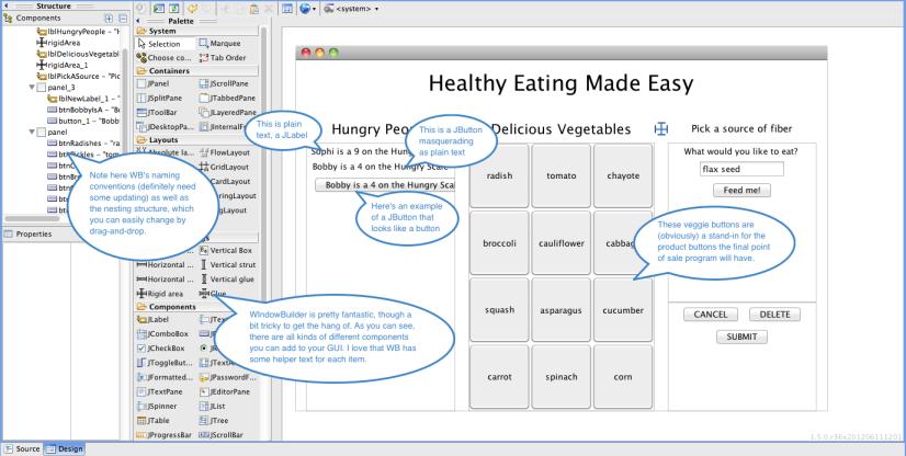WindowBuilder GUI Example