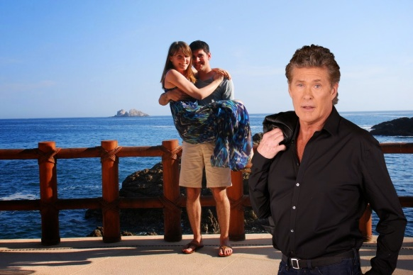 A 2014 April Fool's Day prank in which user photos had David Hasselhoff automatically added to their images. http://www.usatoday.com/story/tech/personal/2014/04/11/david-hasselhoff-photobombs-auto-awesome/7564621/